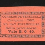 10cts Carúpano 1902 Genuino