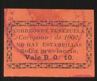 10cts Carúpano 1902 - Falso